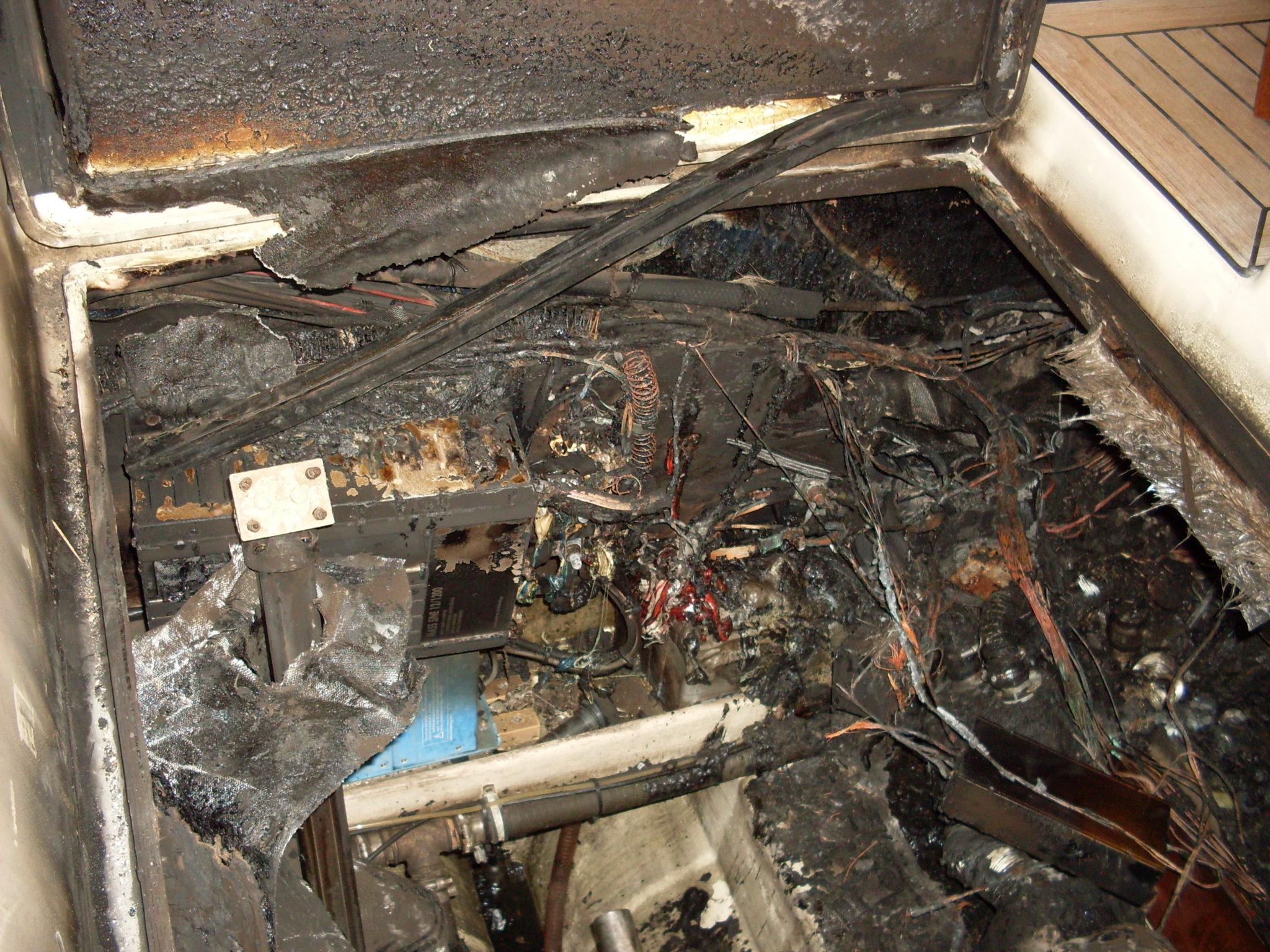 Brand heeft de machinekamer vrijwel volledig verwoest