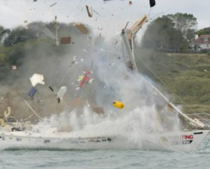 gasexplosie aan boord van jacht
